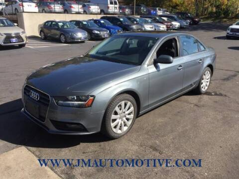 2013 Audi A4 for sale at J & M Automotive in Naugatuck CT