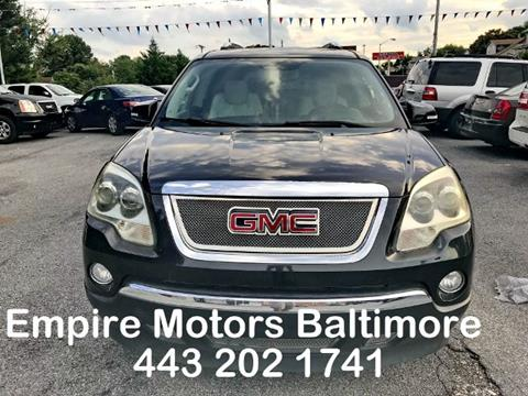 2008 GMC Acadia for sale in Baltimore, MD