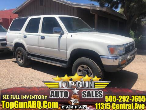 1992 Toyota 4Runner for sale at Top Gun Auto Sales, LLC in Albuquerque NM