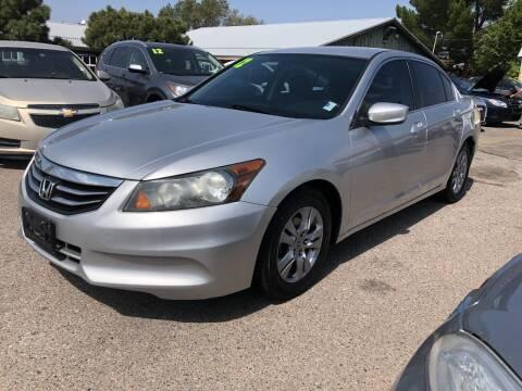 2012 Honda Accord for sale at Top Gun Auto Sales, LLC in Albuquerque NM