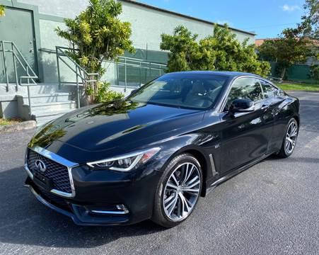 2017 Infiniti Q60 for sale at Meru Motors in Hollywood FL