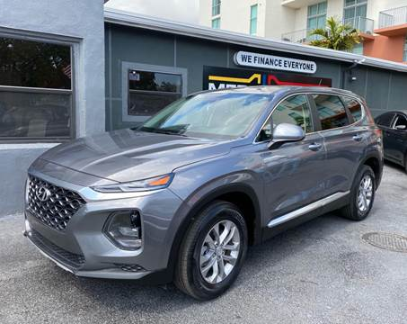 2019 Hyundai Santa Fe for sale at Meru Motors in Hollywood FL