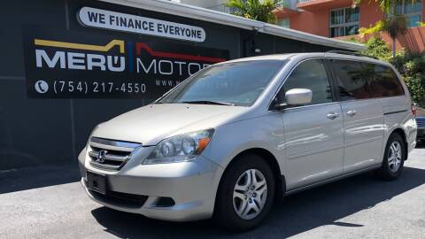 2007 Honda Odyssey for sale at Meru Motors in Hollywood FL