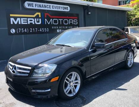 2013 Mercedes-Benz C-Class for sale at Meru Motors in Hollywood FL