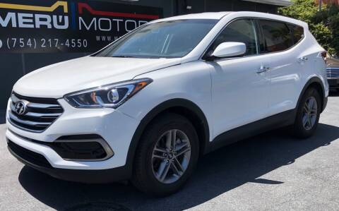 2018 Hyundai Santa Fe Sport for sale at Meru Motors in Hollywood FL