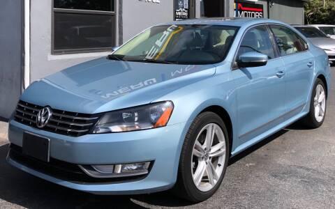 2013 Volkswagen Passat for sale at Meru Motors in Hollywood FL