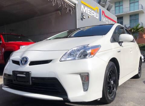 2014 Toyota Prius for sale at Meru Motors in Hollywood FL
