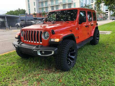 2019 Jeep Wrangler Unlimited for sale at Meru Motors in Hollywood FL