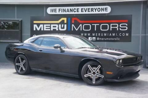 2013 Dodge Challenger for sale at Meru Motors in Hollywood FL