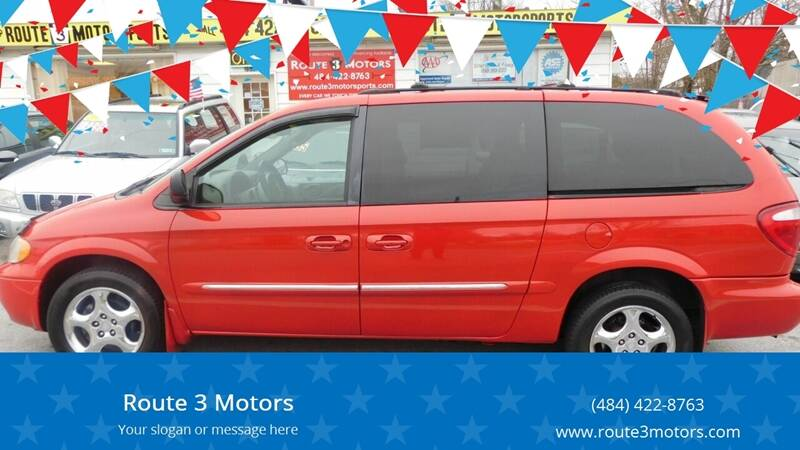 2002 Dodge Grand Caravan for sale at Route 3 Motors in Broomall PA