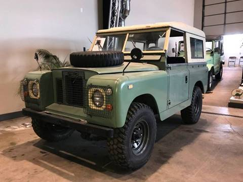 1968 Land Rover Series IIA 88 for sale at STUDIO HOTRODS in Richmond IL