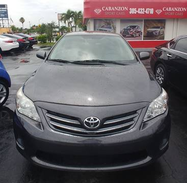 2013 Toyota Corolla for sale in Hialeah, FL