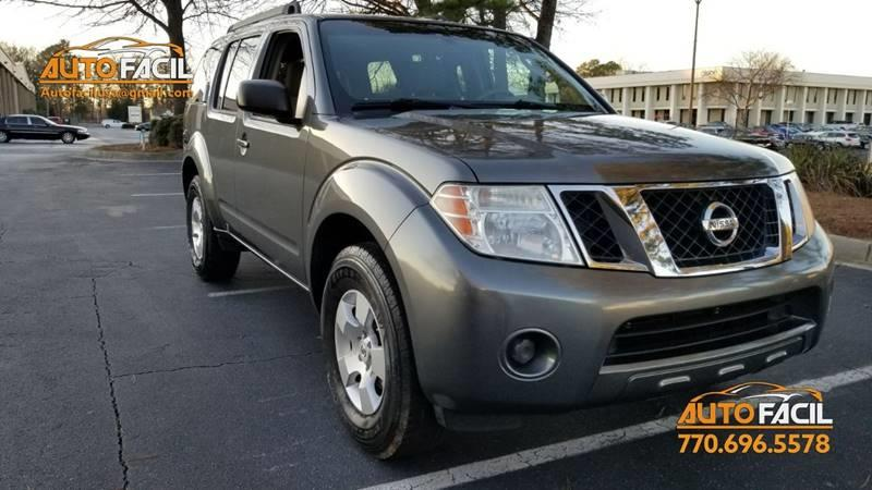 2008 Nissan Pathfinder For Sale At Auto Facil, LLC In Atlanta GA