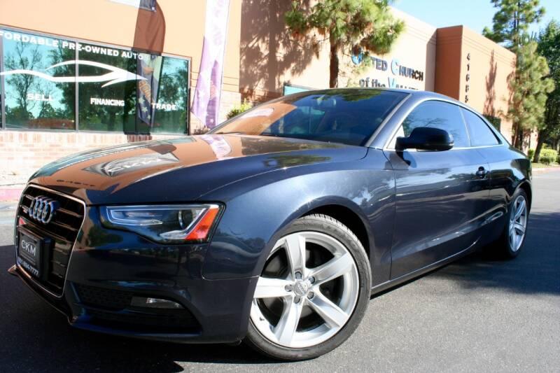 2013 Audi A5 for sale at CK Motors in Murrieta CA