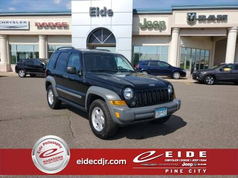 2005 Jeep Liberty Sport for sale at EIDE AUTO CENTER in Pine City MN