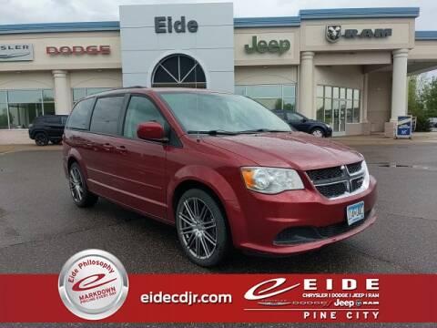 2016 Dodge Grand Caravan SXT for sale at EIDE AUTO CENTER in Pine City MN