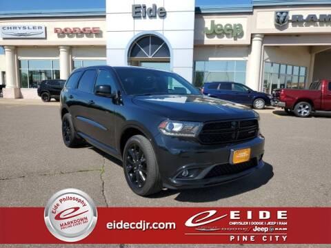 2018 Dodge Durango SXT for sale at EIDE AUTO CENTER in Pine City MN