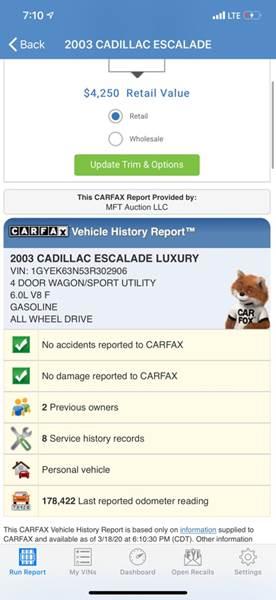 2003 Cadillac Escalade (image 29)