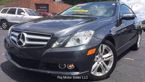 2010 Mercedes-Benz E-Class for sale at Raj Motors Sales in Greenville TX