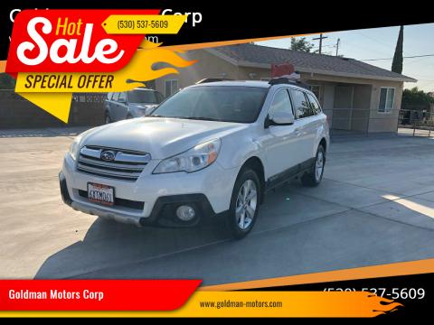 2013 Subaru Outback for sale at Goldman Motors Corp in Stockton CA