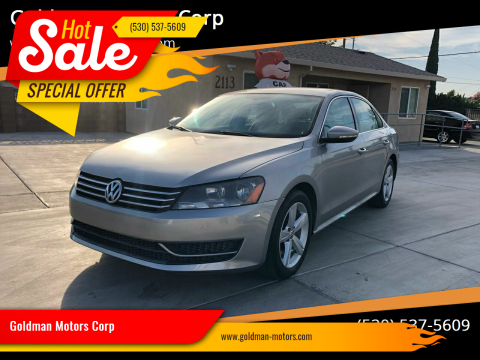 2012 Volkswagen Passat for sale at Goldman Motors Corp in Stockton CA