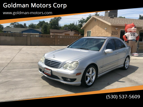 2005 Mercedes-Benz C-Class for sale at Goldman Motors Corp in Stockton CA