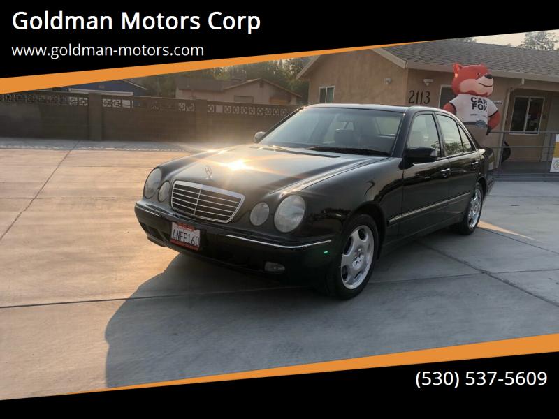 2001 Mercedes-Benz E-Class for sale at Goldman Motors Corp in Stockton CA