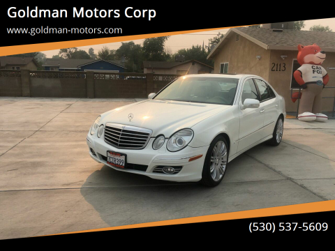 2008 Mercedes-Benz E-Class for sale at Goldman Motors Corp in Stockton CA