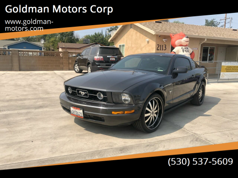 2009 Ford Mustang for sale at Goldman Motors Corp in Stockton CA