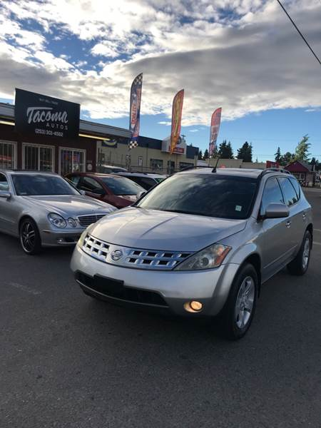 2003 Nissan Murano For Sale At Tacoma Autos LLC In Tacoma WA