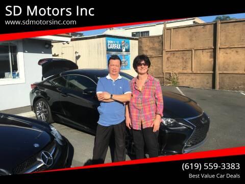 2015 Lexus RC 350 for sale at SD Motors Inc in La Mesa CA