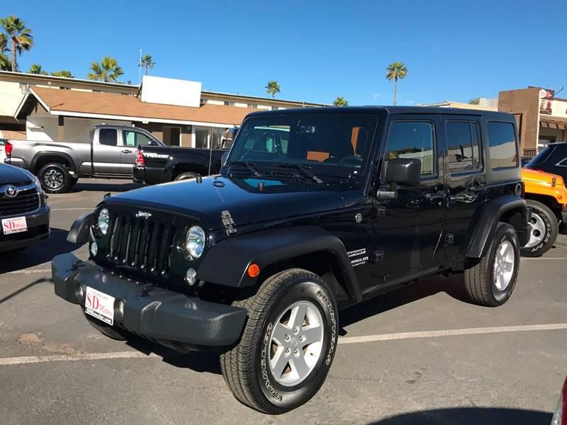2016 Jeep Wrangler Unlimited Sport In La Mesa CA - SD Motors Inc