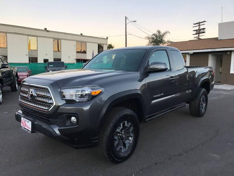 2016 Toyota Tacoma for sale at SD Motors Inc in La Mesa CA