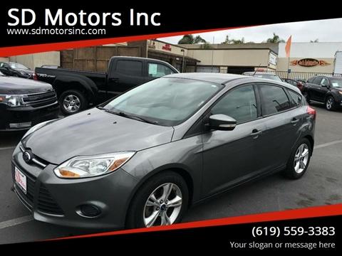 2013 Ford Focus for sale at SD Motors Inc in La Mesa CA