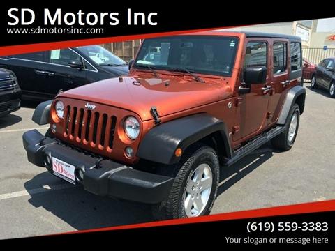 2014 Jeep Wrangler Unlimited for sale at SD Motors Inc in La Mesa CA