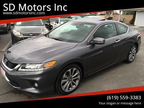2014 Honda Accord for sale at SD Motors Inc in La Mesa CA