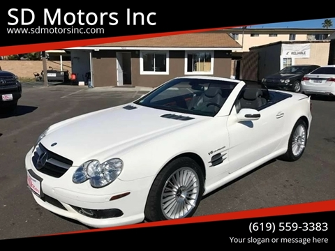 2003 Mercedes-Benz SL-Class for sale at SD Motors Inc in La Mesa CA