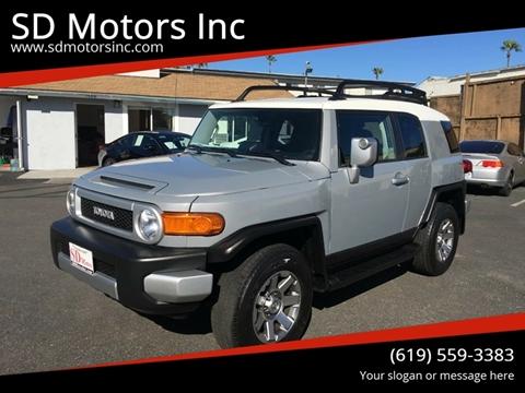 2014 Toyota FJ Cruiser for sale at SD Motors Inc in La Mesa CA
