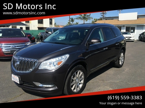 2014 Buick Enclave for sale at SD Motors Inc in La Mesa CA