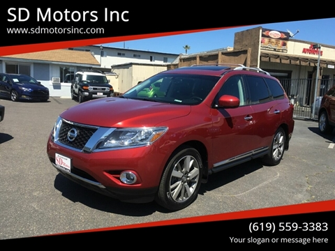 2015 Nissan Pathfinder for sale at SD Motors Inc in La Mesa CA