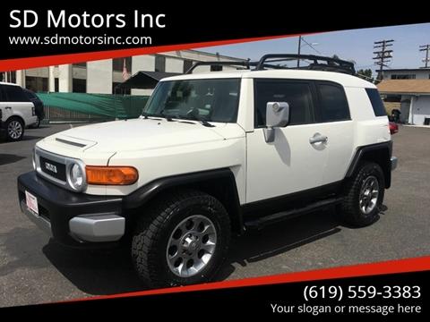 2013 Toyota FJ Cruiser for sale at SD Motors Inc in La Mesa CA