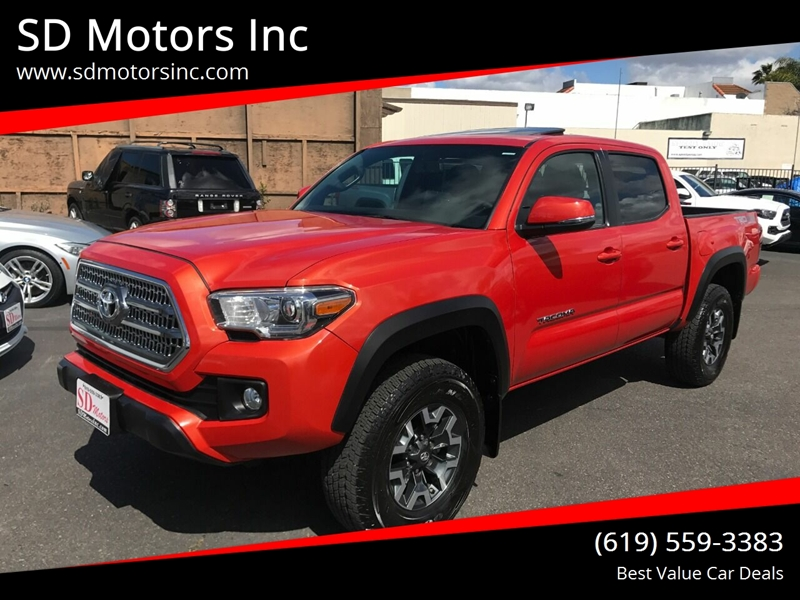 2017 Toyota Tacoma for sale at SD Motors Inc in La Mesa CA