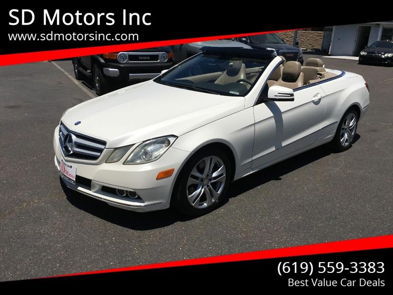 2011 Mercedes-Benz E-Class for sale at SD Motors Inc in La Mesa CA