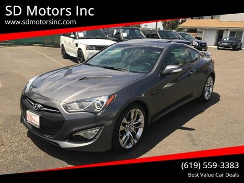2015 Hyundai Genesis Coupe for sale at SD Motors Inc in La Mesa CA