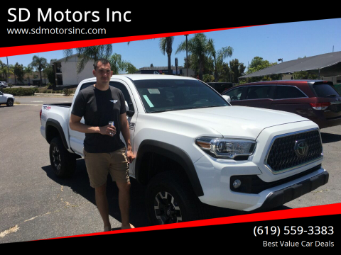 2018 Toyota Tacoma for sale at SD Motors Inc in La Mesa CA