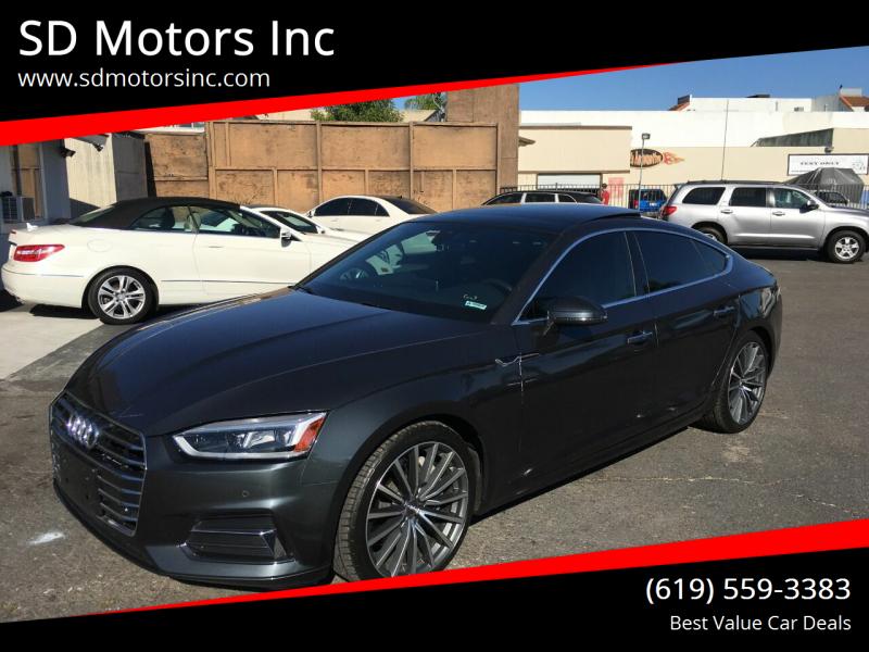 2018 Audi A5 Sportback for sale at SD Motors Inc in La Mesa CA