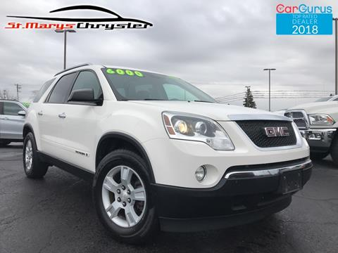 2007 GMC Acadia for sale in Saint Marys, OH