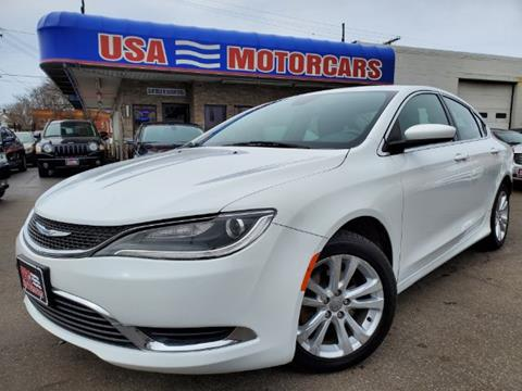 2015 Chrysler 200 for sale at USA Motorcars in Cleveland OH
