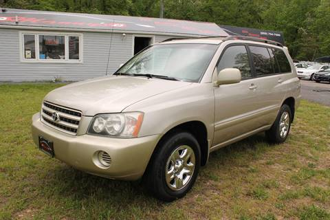2002 Toyota Highlander for sale at Manny's Auto Sales in Winslow NJ