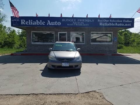 2005 Honda Civic for sale at Reliable Auto in Cannon Falls MN